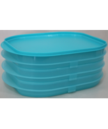 Tupperware Lunch Meat stackables container - Meat cheese storage tray blue - $16.95
