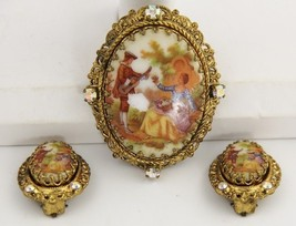 VINTAGE Jewelry WEST GERMANY COURTING COUPLE CA... - $45.00
