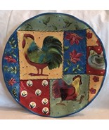 Certified International Susan Winget Country Collage Rooster Dinner Plat... - $29.99