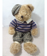 Ganz Heritage Collection Light Brown BoyTeddy Bear Hat Sweater Pants NEW... - $30.40