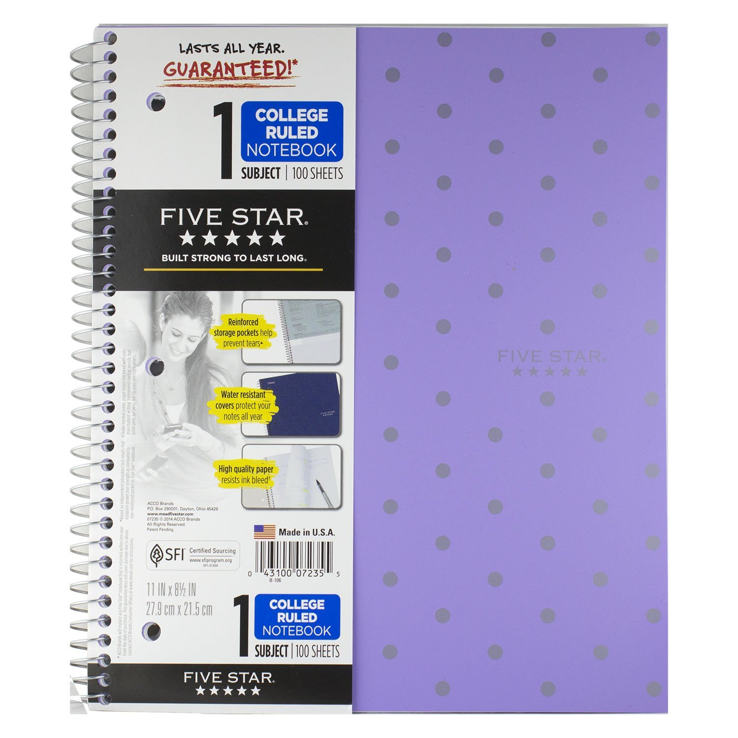 Five star 5 subject notebook coupons