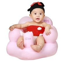With Air Pump Kids Bath Seat Chair Baby Inflatable Sofa Dining Pushchair... - $31.28