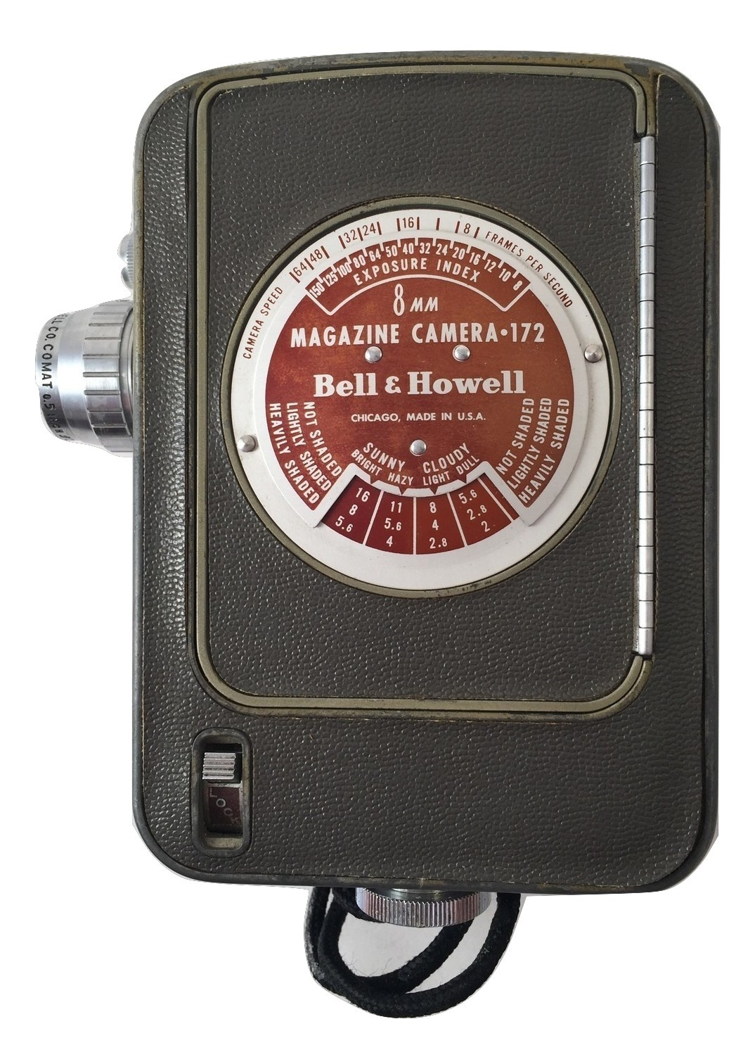 Vintage Bell & Howell 8MM Magazine Camera Model 172 (1947) & leather case