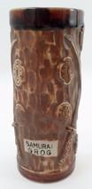 Samurai Grog Brown Drip Tiki Tropical Drink Mug w/ Raised Coins Crossed ... - $8.86