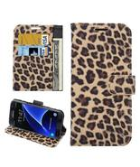 For Galaxy S7 Yellow Leopard Leather Case with ... - $9.49
