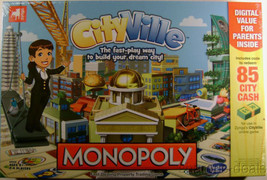 Monopoly CityVille Hasbro Board Game Zynga Sealed Property Trading Building - $20.49