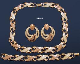 Vintage Napier Enameled Necklace, Bracelet, Earrings Set Parure - $85.00