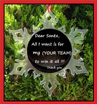 Personalized Hockey Christmas Ornament - Snowflake ORNAMENT- Hockey - $12.95