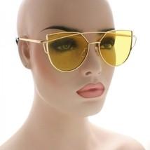 CLASSIC VINTAGE RETRO Style SUNGLASSES Rose Gold Frame Flat 5 Lens Colors - $8.86+