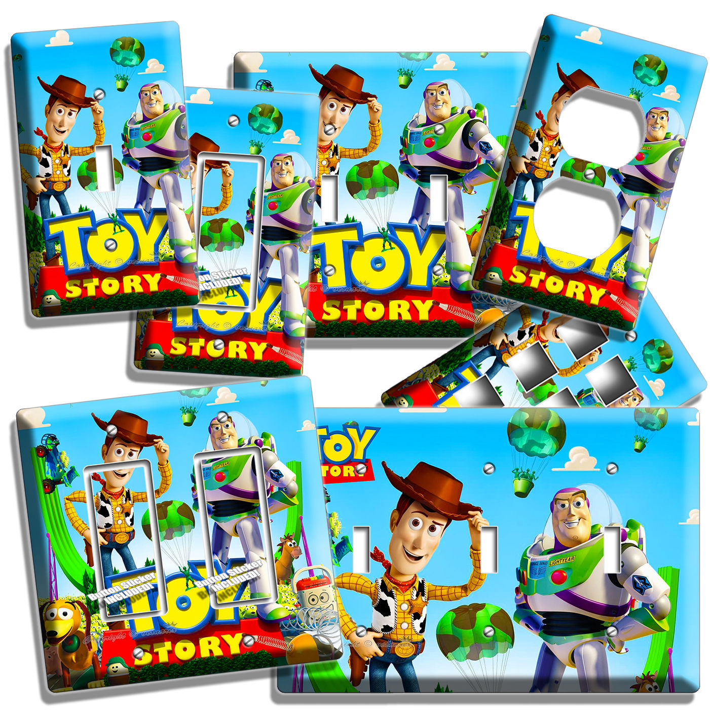 Toy Story Wall Light : TOY STORY WOODY BUZZ LIGHTYEAR LIGHT SWITCH WALL PLATE OUTLET KIDS BEDROOM DECOR - Other