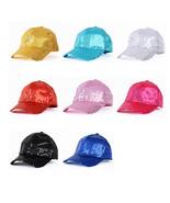 Unisex Glitter Baseball Cap Sequins Snapback Hat Party Dance Cosplay Clu... - $6.95