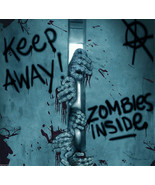Keep Away-Turn Back-ZOMBIE INSIDE-DOOR COVER-Wa... - $5.91