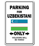 Uzbekistani Country Parking Only uzbekistan flag national pride love gift - $7.90