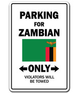 Zambian Country Parking Only zambia flag nation... - $7.90