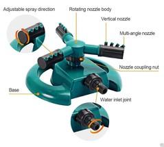 Water Sprinkler for Lawn - 3-Arm Durable Rotary Circular Sprayers - $24.47