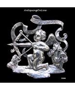 Vintage Cupid Sterling Sagittarius Pin Cini - $85.00