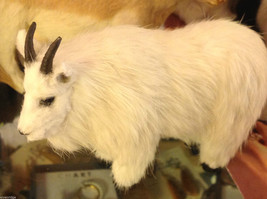 White Mountain Goat  Animal Figurine - recycled rabbit fur