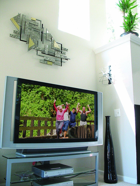 HDTV Antenna TV Indoor Outdoor Mount HD UHF VHF Digital DTV Free Broadcast Uncom
