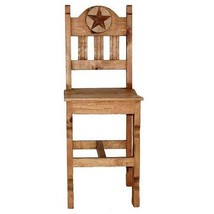 "30"" Rustic Marble Star Bar Stool With Wood Seat - $222.75+"