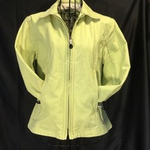 Women's LL Bean Lime Green Jacket Zip Up Coat Barn XSmall  - $29.02
