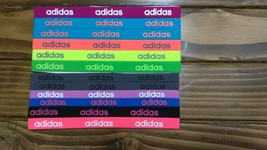 New Unisex Adidas Running 12 Piece Set HEADBANDS Adidas Logo All Sport #18 - $40.00