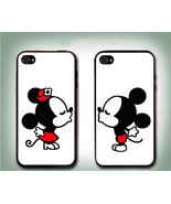 Cute Love Mickey Minnie Couple iPhone Case - 2 Rubber Silicone iPhone 4 ... - $19.99