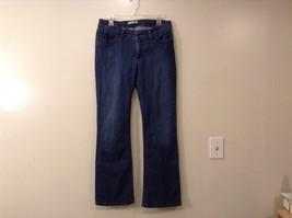 Womens Lee Slender Secret Blue Jeans Floral Velvet Design Pockets Low Rise