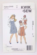 Kwik Sew Pattern Girls Dress, Jumper & Tops #2448 Youth Sizes  4 5 6 7 - $11.26