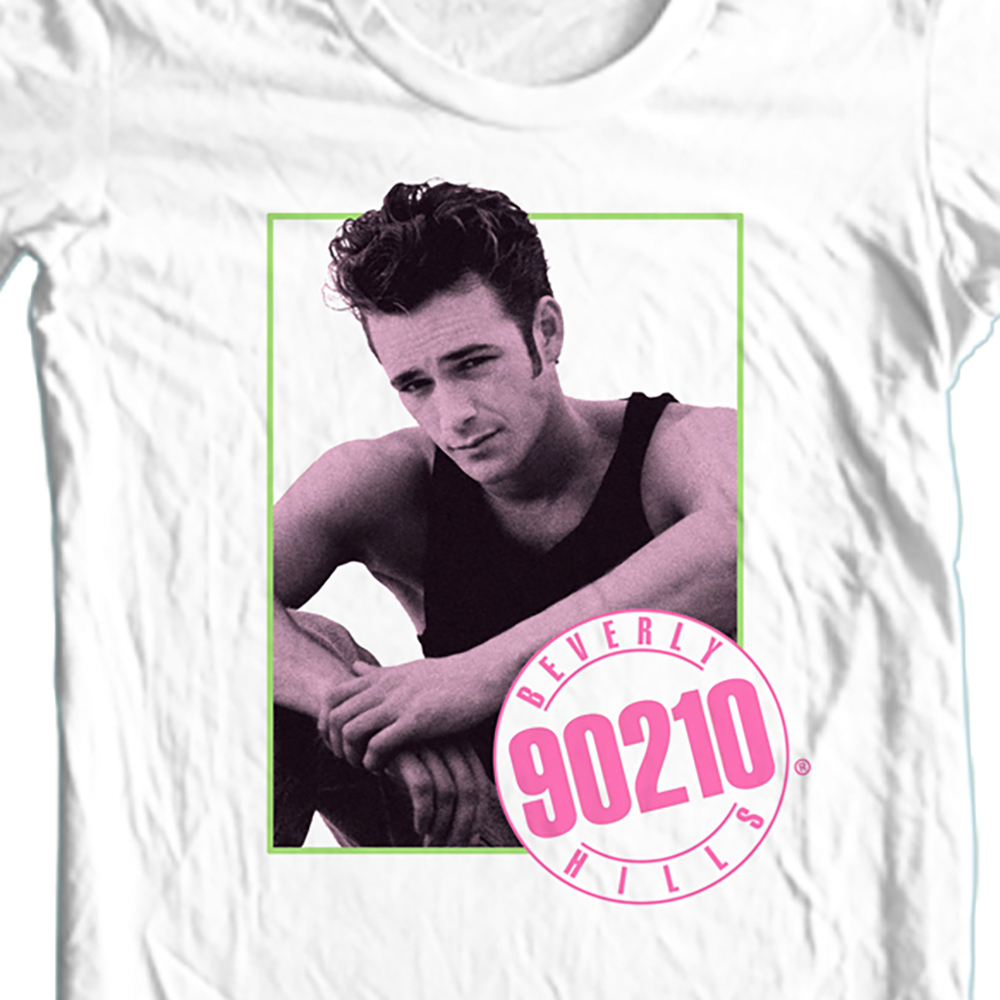 Luke perry dillion 90210 white t shirt cbs773