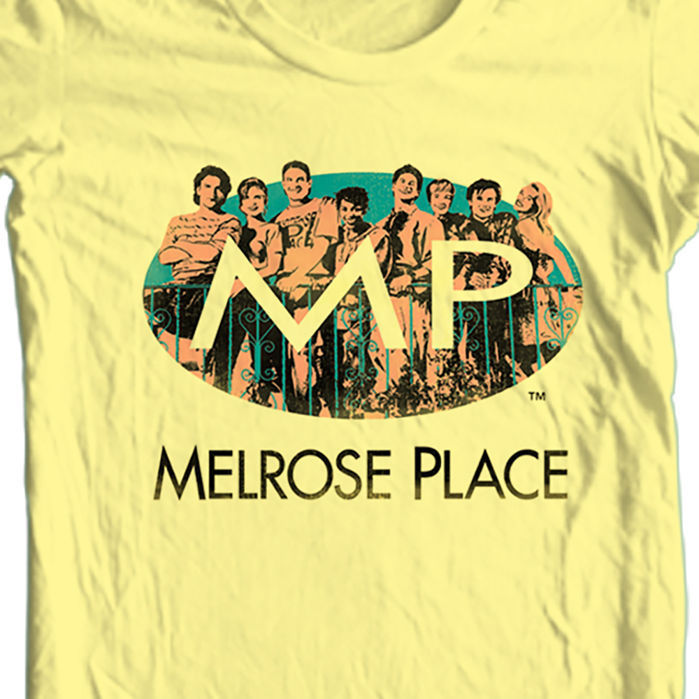 Melrose place 90s yellow tshirt
