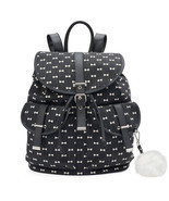 Mudd Black with White Bows Backpack School Book Bag - NWT - $1.244,39 MXN