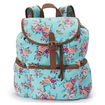Mudd Nicole Blue Floral Patterned Backpack School Book Bag - NWT - $49.99