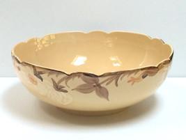 "RARE Franciscan Large 10-1/2"" Cream Salad Serving Bowl Scalloped Pre-197... - $24.74"