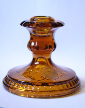 VTG Indiana Glass Co Tiara Exclusive Amber Cand... - $16.81