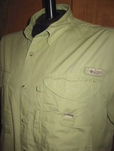 Columbia PFG Short Sleeve Vented Hiking Fishing Outdoors Shirt Mens L Large - $24.70