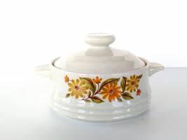 VTG Capri Bake Serve 'n Store Stoneware Pot bakeware Japan flowers mini ... - $16.81