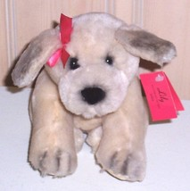 "Victoria's Secret Plush 9"" Limited Edition 2002 Tan Cuddle Puppy Dog ""LILY"" - $7.49"