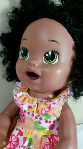 Baby Alive Doll 2014 Soft Face Interactive African American Ethnic Black Girl