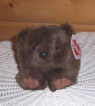 Puffkins GRIZWALD Plush Brown Sun Loving Sleeping Bear Looking for Home - $6.75