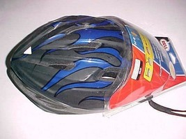Bell Blade Youth Bicycle Black Blue Helmet Age 8 to 14 Size 54 - 49 cm New - $39.59