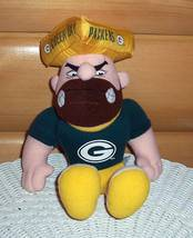 "Green Bay Packers Fans Plush 9"" Serious Tough Wisconsin Cheesehead - $6.89"