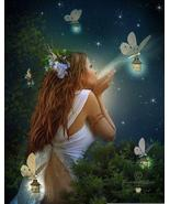 Angel with butterflies on lanterns thumbtall