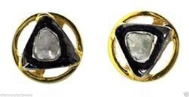 Antique Vintage Insp. 0.26Ct  Polki Diamond Sterling Silver Stud Earring @ - $131.00