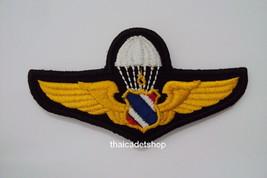 "Jump Parachute WING Royal Thai Air Force Badge Insignia Velcro Back 3.5"" - $4.95"