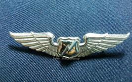 ROYAL THAI AIR FORCE MOMUNICATIONS METAL WING BASIC 3rd DEGREE BADGE PIN - $7.92