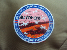 Air Tectical Operation Competition 2010 Royal Thai Air Force Patch Velcro Back - $9.41
