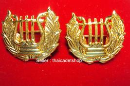 Royal Thai Air Force Band COLLAR PINS BADGE Unit insignia 1 PAIR - $8.91