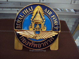 Royal Thai Air Force Obsolete Vehicle Grill Metal Badge Wing Crest New Badge - $53.96