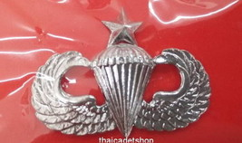 Senior Us Army Usmc Usn Usaf Parachutist Airborne Parachute Pin Jump Wing - $7.92