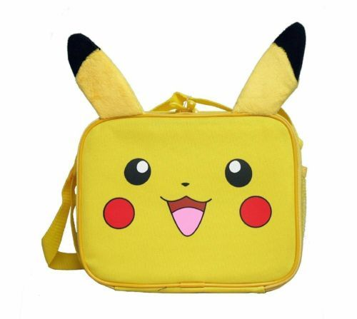 Pokemon Pikachu School Lunch Bag Insulated Snack Bag with Plush Ear